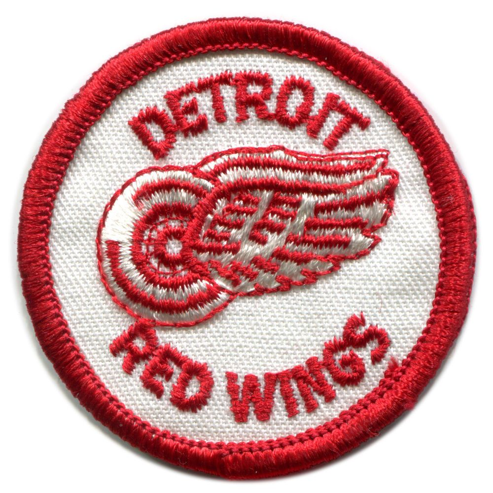 "1970'S DETROIT RED WINGS NHL HOCKEY VINTAGE 2"" ROUND TEAM PATCH #DetroitRedWings"
