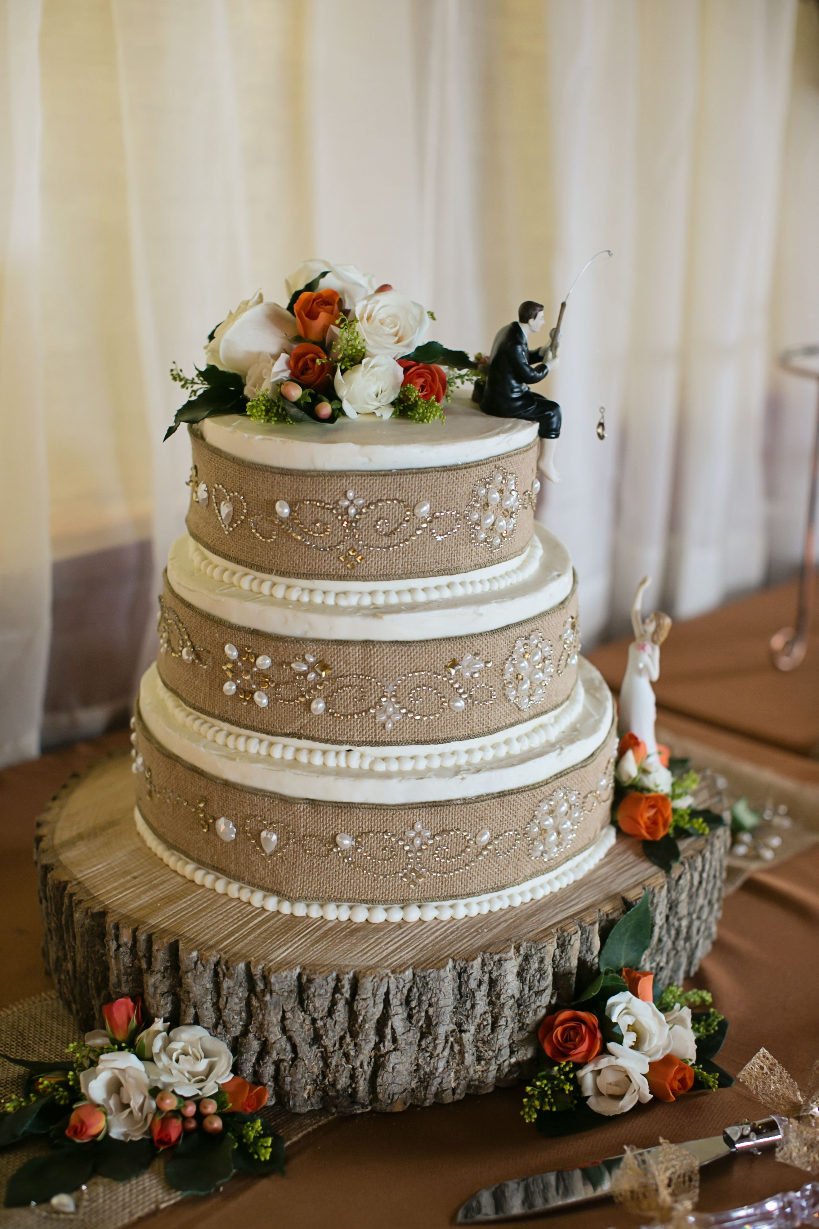 Cake For Erica Wilsons Wedding Of Gilbertsville PAWilson Catering PA