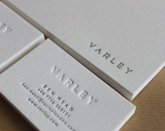 Letterpress business cards on natural white cotton by mapletea hand printed letterpress business cards in a choice of styles on luxurious cotton card stock colour pure white mapletea via etsy colourmoves Gallery