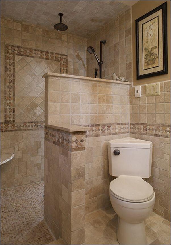 Walk In Shower Designs No Glass Small Bathroom Bathroom Layout