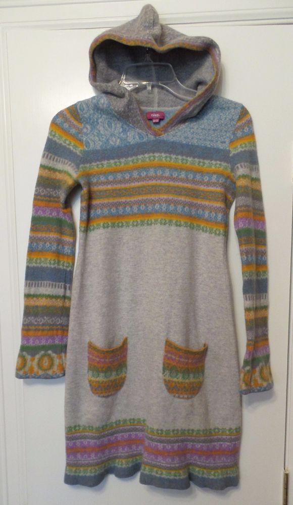 IVKO Extrafine Lambswool Hoodie Sweater Dress Size M / 38 Runs Small #IVKO #SweaterDress #Various