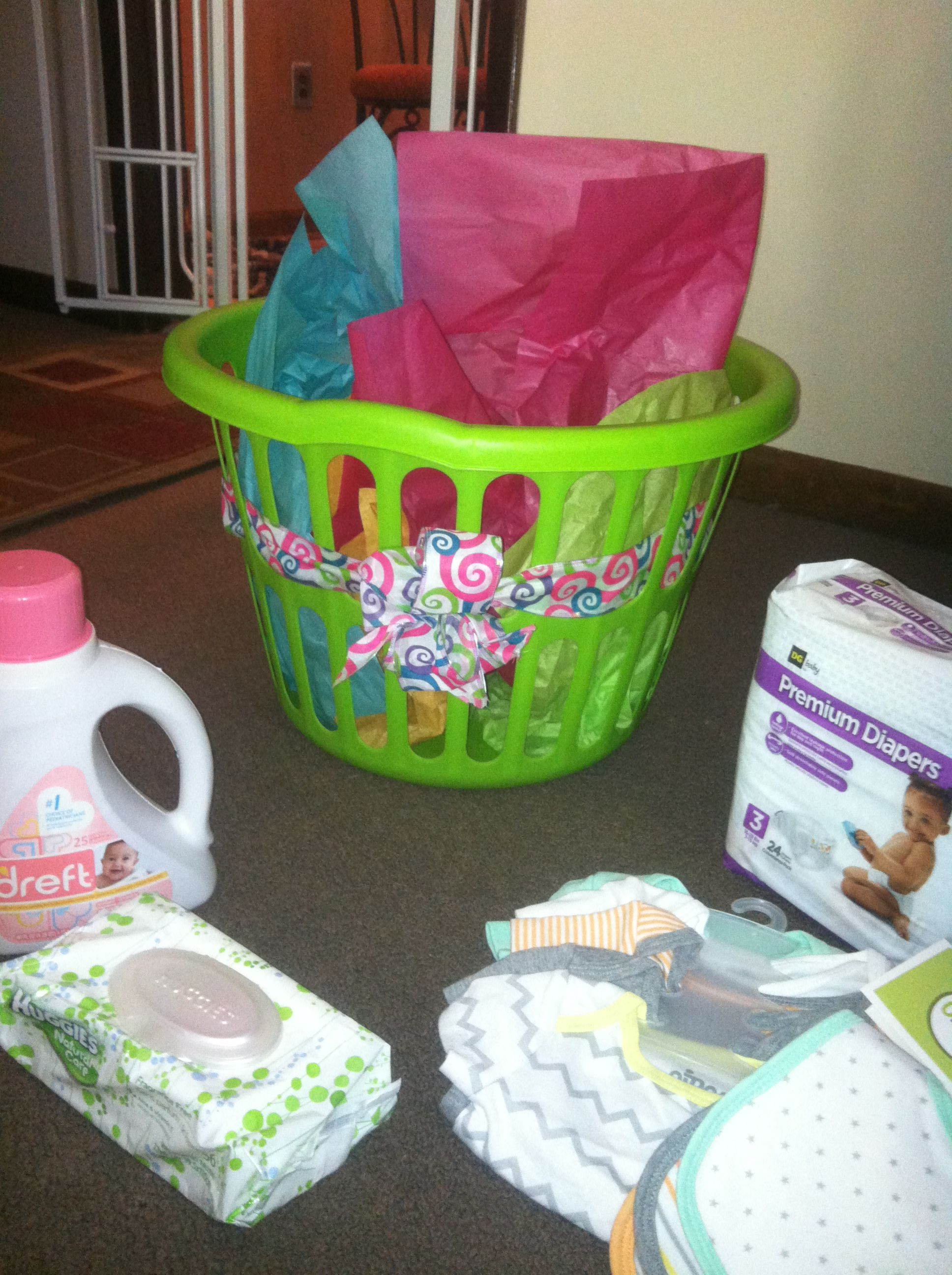 Baby Laundry Basket Gift Dollar General Baby Shower Gift Laundry Basket Filled With