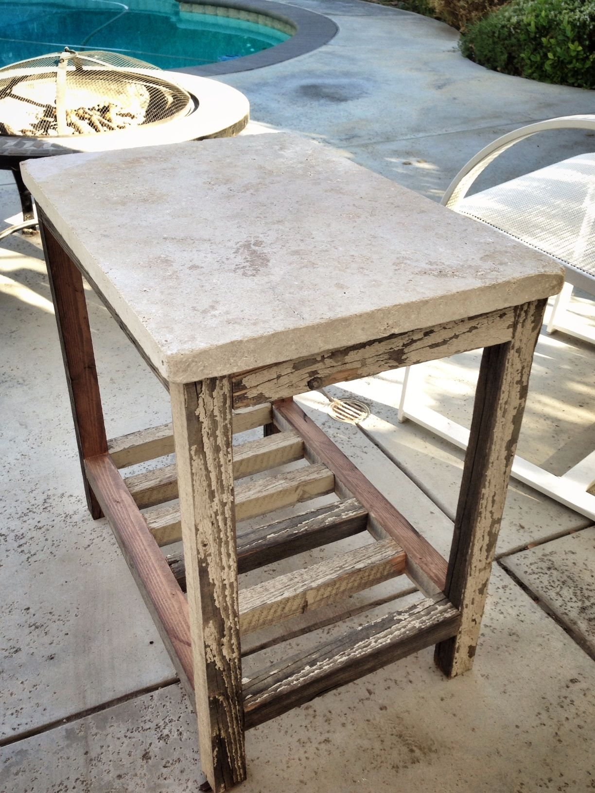 Ana White Build A Travertine Paver Side Table Free And Easy Diy Project Furniture Plans