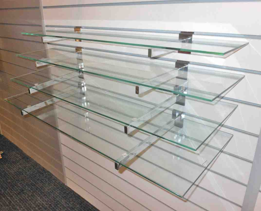 diy glass shelves home decorating in 2019 glass wall shelves rh pinterest com glass wall mounted shelving unit glass wall mounted bathroom shelves