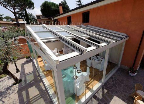 Mobili Veranda ~ Coperture mobili per verande in vetro scorrevoli progetti da