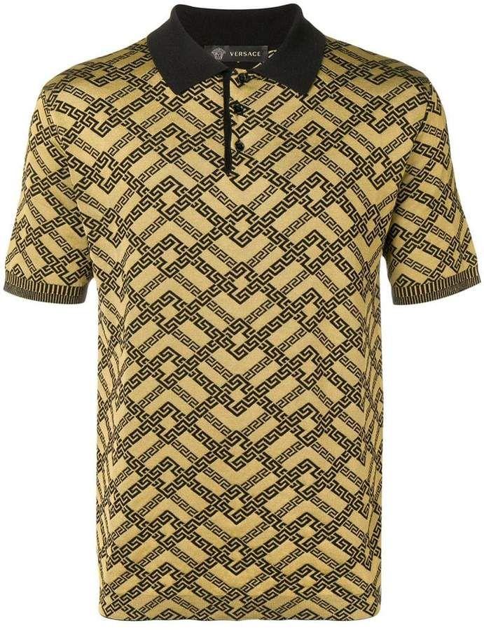 30baf7839 Versace Printed Polo Shirt in 2019 | Pants | Printed polo shirts ...