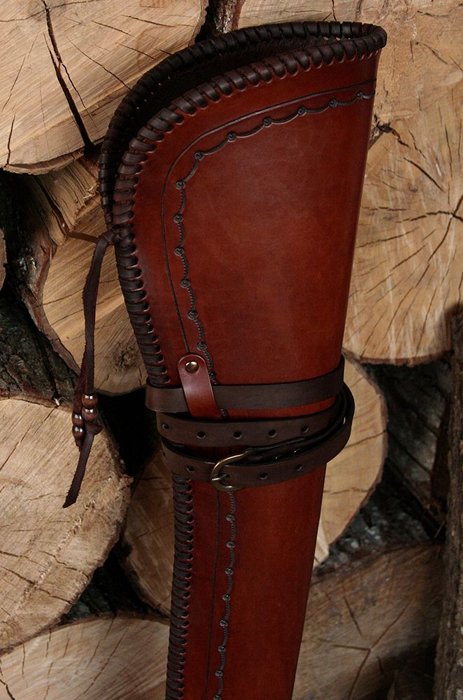 Used Tack New Gun Scabbard leather rough out Western gift hunter hunting
