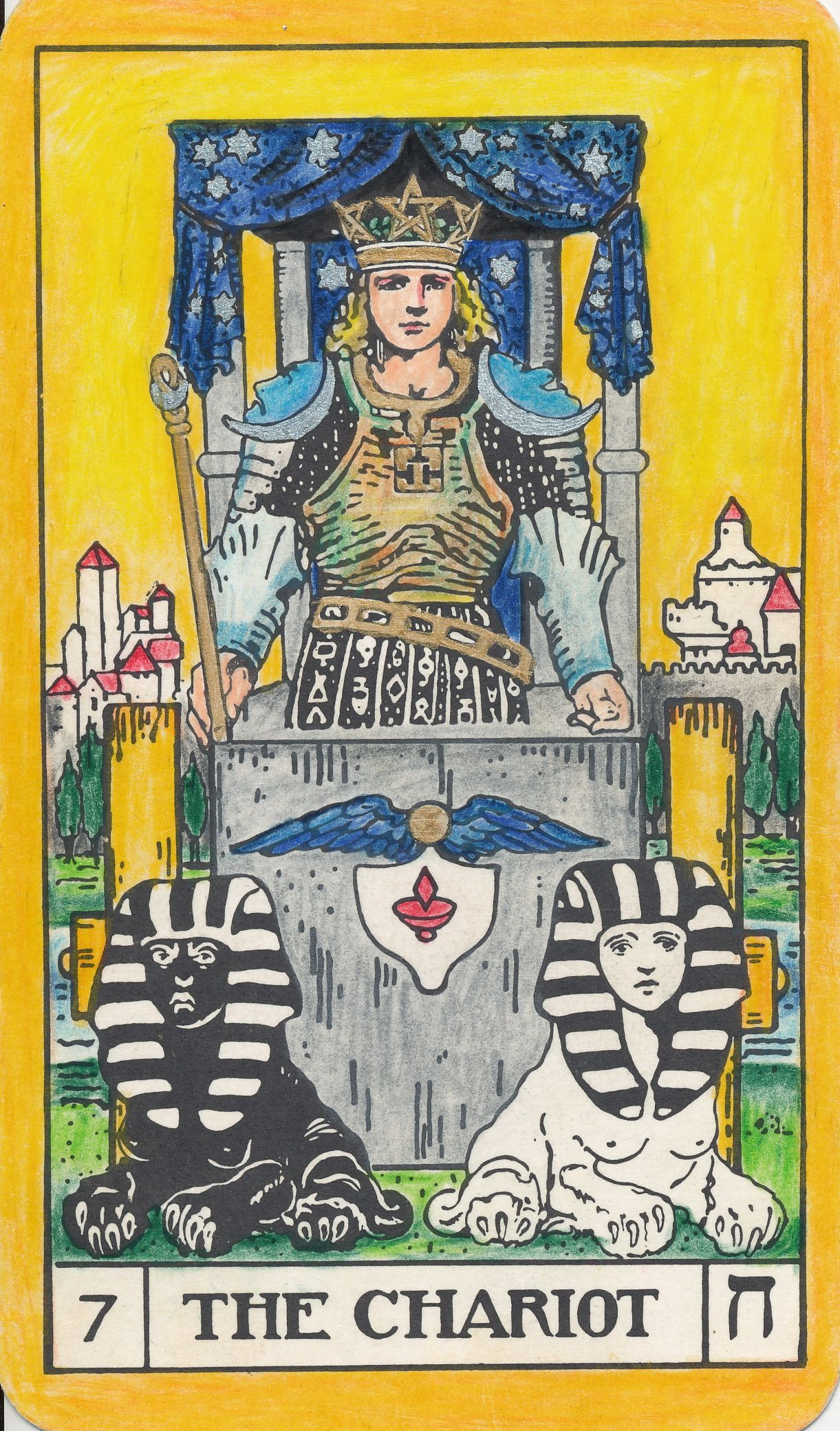 Bota Key 1 Magician: Bota Tarot Coloring Instructions