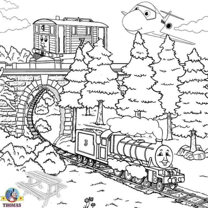 Boys Train Pictures Of Thomas Colouring Pages To