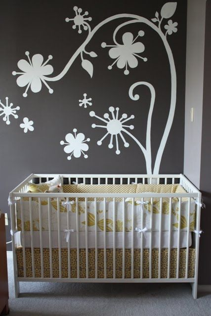 Cute bedding for a yellow and gray nursery Nursery Pinterest