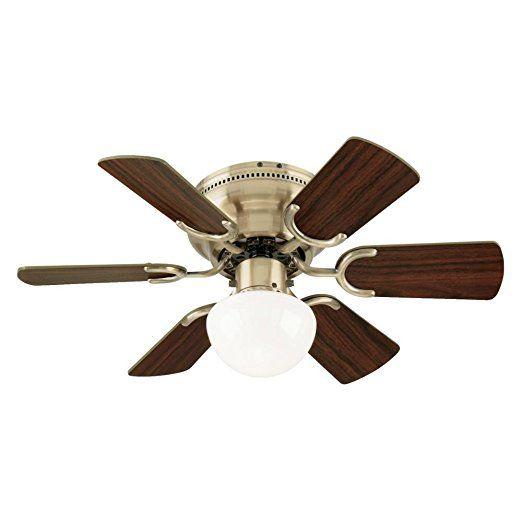 Westinghouse 7215800 Petite Single Light 30 Inch Reversible Six Blade Indoor Ceiling Fan Antique Bras Ceiling Fan With Light Ceiling Fan Light Kit Ceiling Fan