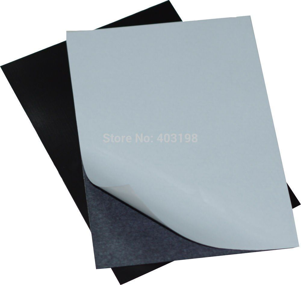 New A4 5 Sheets Self Adhesive Soft Rubber Magnetic Magnetic Sheets Flexible Magnetic Sheet Soft Rubber