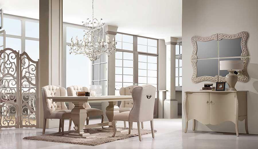 Ambiente de Comedor Lorient VI    Madera de caoba y tapa en DMLorient se inspira en la elegancia y pureza de lineas de un estilo, el frances, siempre acogedor en cualquier ambiente. ... Desde Eur:3553 / $4725.49