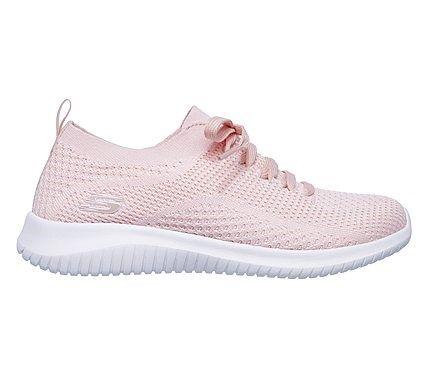 a674b36b340 Skechers Women s Ultra Flex Statement Memory Foam Slip On Sneakers (Light  Pink White)