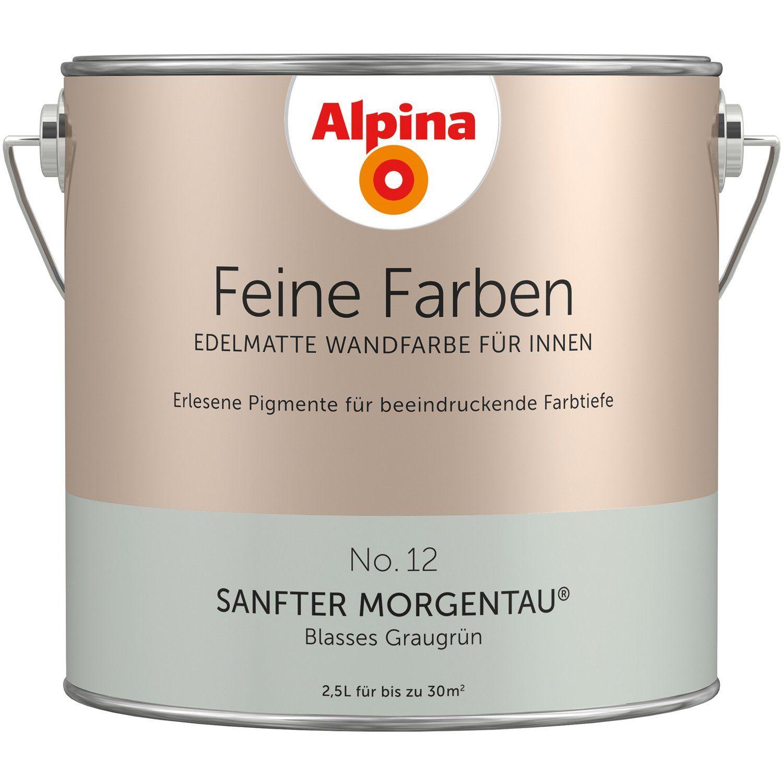 Edelmatte Wandfarbe Fur Innen No 12 Sanfter Morgentau Alpina Feine Farben No 12 Sanfter Morgentau Edelmatt 2 5 L In 2020 Alpina Wandfarbe Wandfarbe Feine Farben