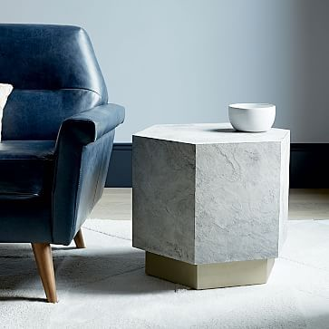 Geo Hex Side Table Slate Westelm Solid Ad Grounding Come To Mind When I See This Gorgeous Shape Remember Make Sure There Are No Sharp Edges