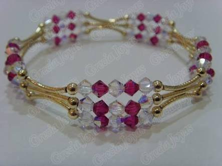 Hacer pulseras con cristales swarovski