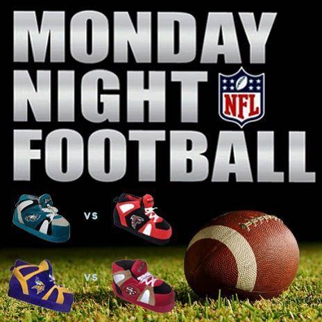 Monday Night Football!  49ers vs. Vikings & Eagles vs. Falcons  It'sssss Backkkkkkk!  Comment below with who is going to win.  #NFL #49ers #Vikings #Eagles #Falcons #Slippers
