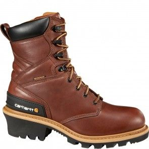 CML8230 Carhartt Men's Waterproof Safety Boots - Redwood www.bootbay.com