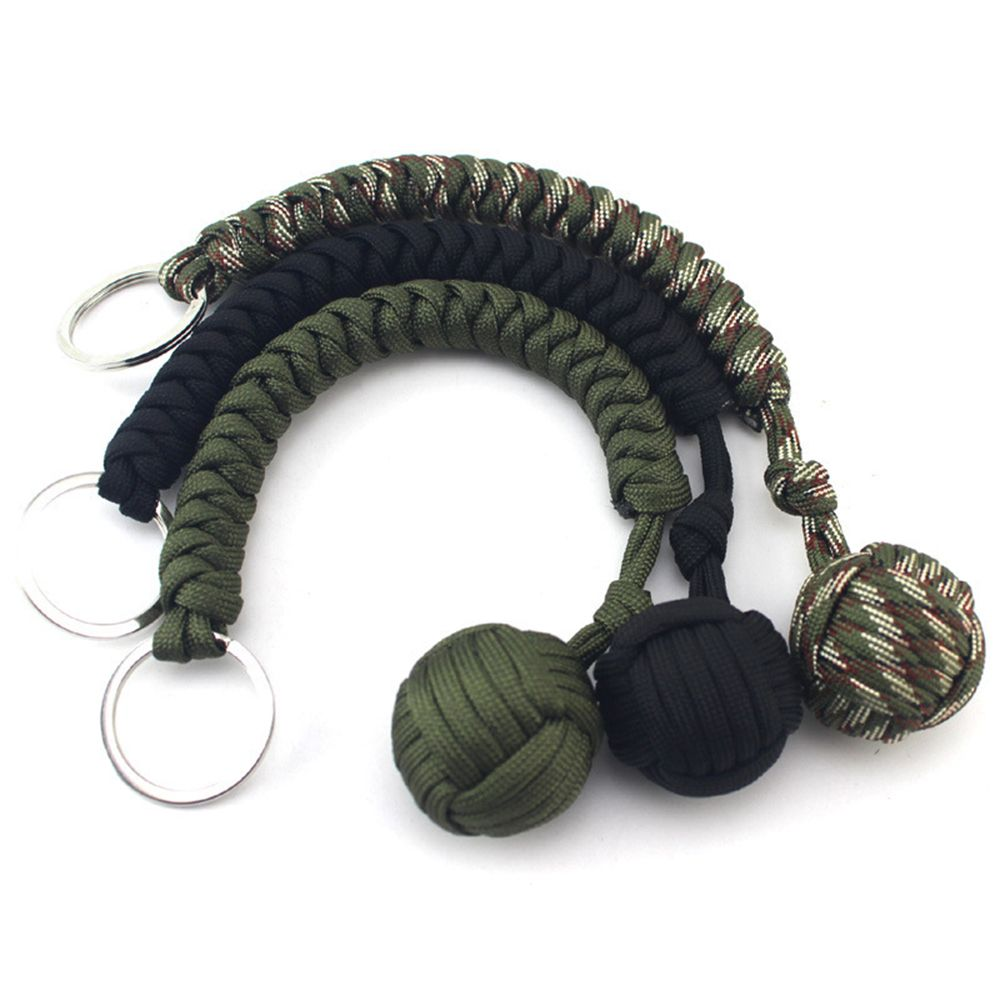 Monkey Fist Keychain Keyring Military Steel Ball Self-defense Survival Gift