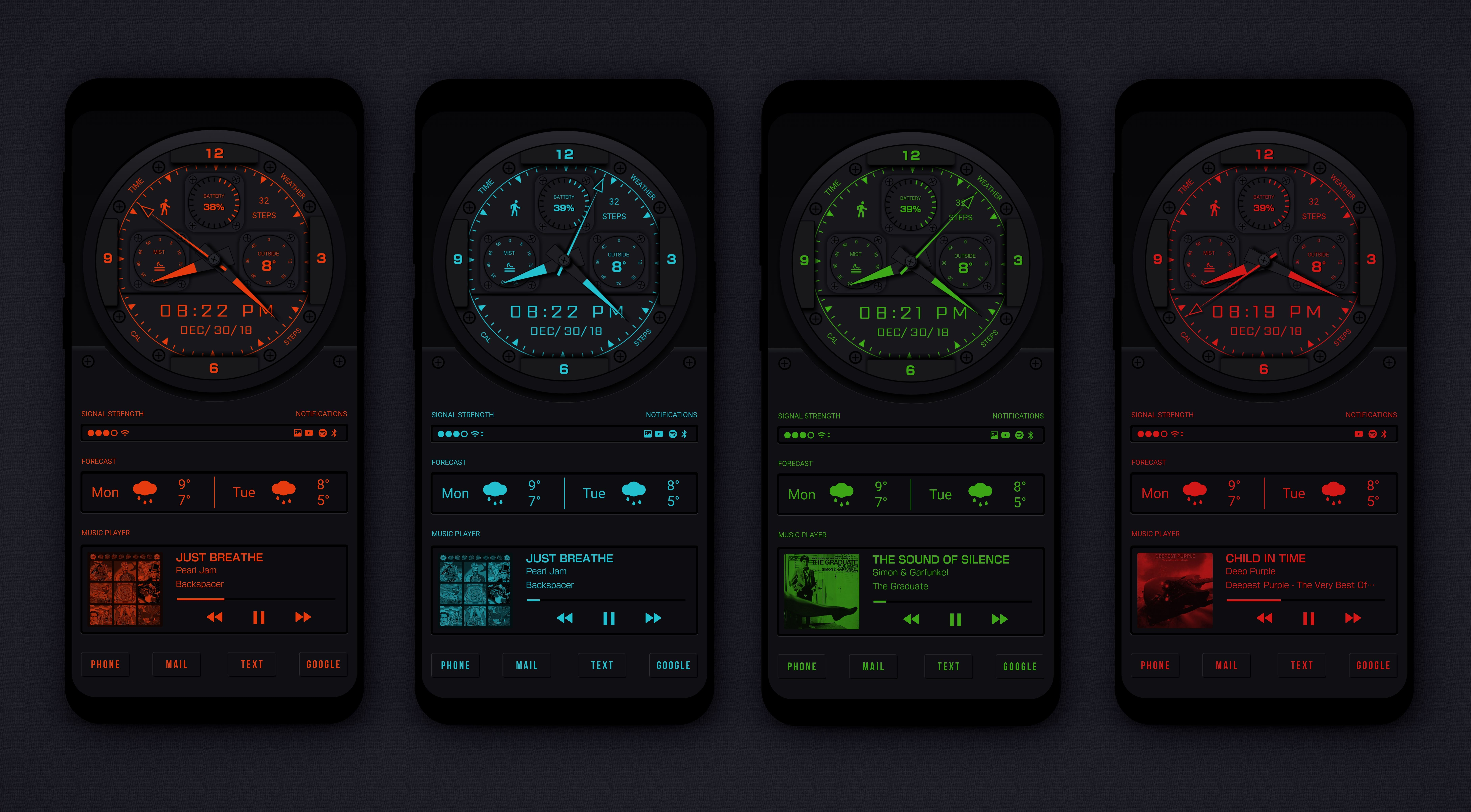 All color watch face theme theme watch faces all the