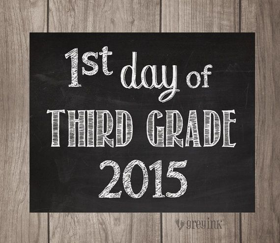 3rd Grade First Last Day Chalkboard Signs 2 Signs By Greyink