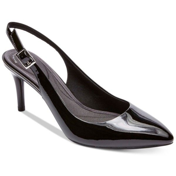 39ecc0d41e7c Rockport Women s Total Motion 75 Mm Pointed-Toe Slingback Pumps ( 120) ❤  liked on Polyvore featuring shoes
