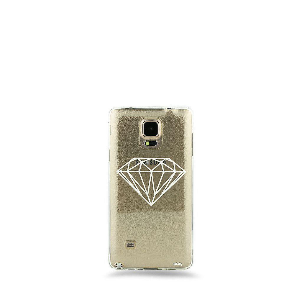 Milky Way Clear TPU Case for Samsung Galaxy NOTE 4 - Diamond – Milkyway