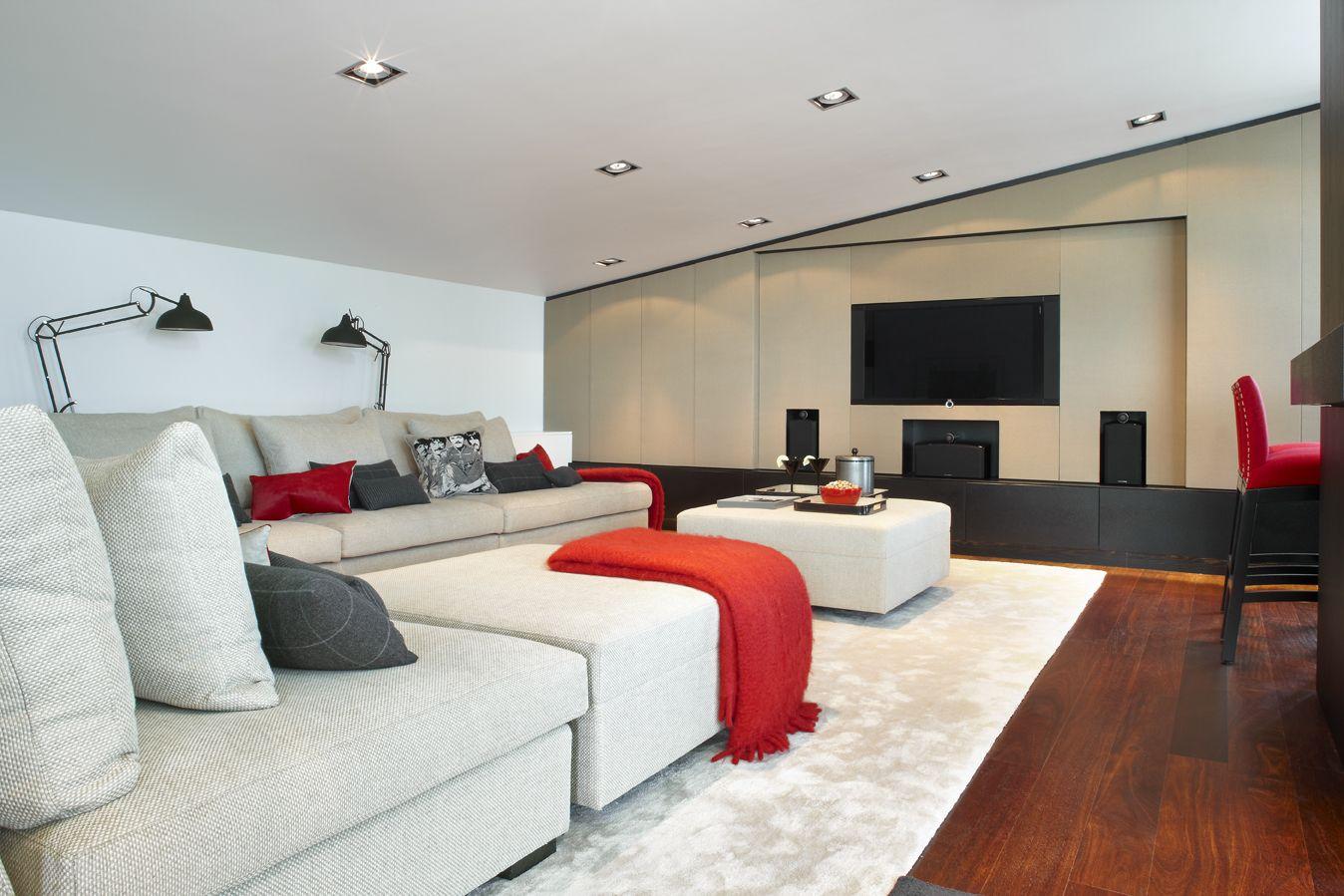 molins interiors arquitectura interior interiorismo decoracin saln buhardilla sof - Interiorismo Salones