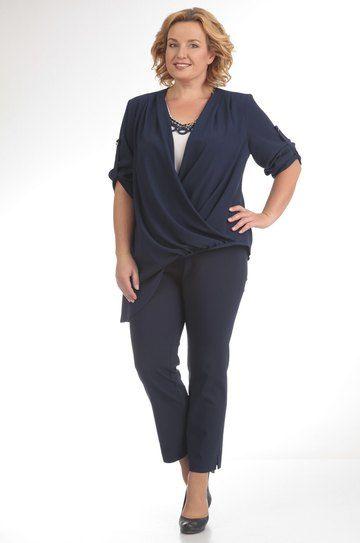 Модель 474 темно-синий Pretty | Синий, Длинные брюки и ...  Темно Синий Костюм Рубашка