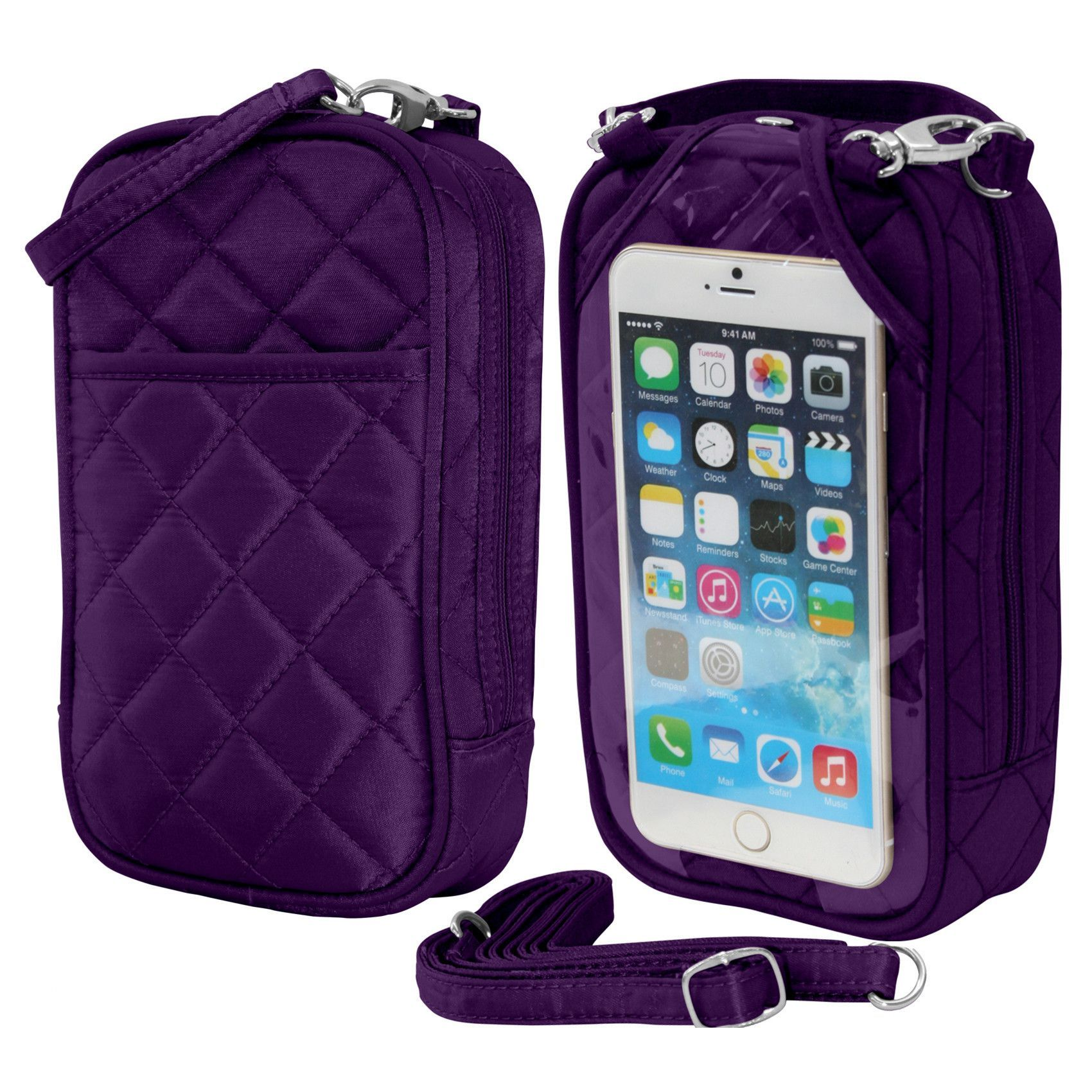 Cell Phone Purse - Grape PursePlus Q with Touchscreen
