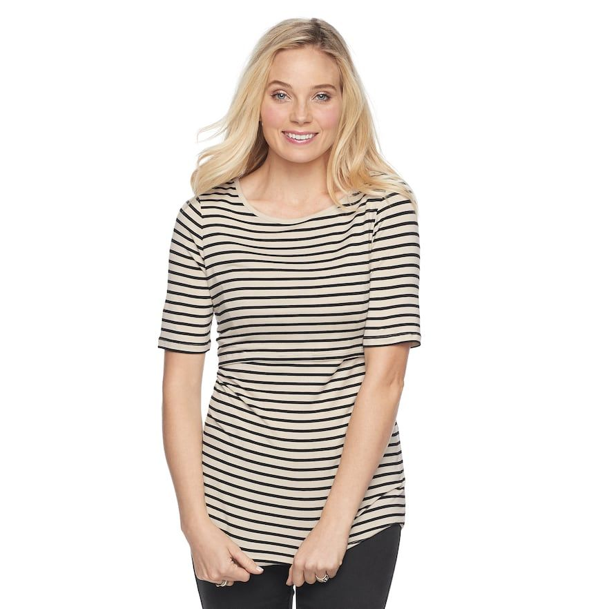 83478c6a0c9ab A Glow Maternity a glow Empire Popover Nursing Top