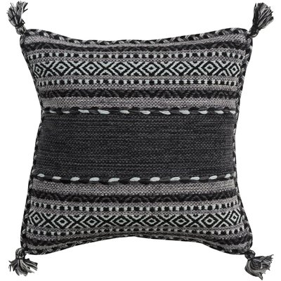 Three Posts Wrightsville Throw Pillow Size 18 H X 18 W X 4 D Color Charcoal Throw Pillows Geometric Throw Pillows Square Pillow Cover
