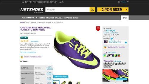 Netshoes  Chuteira Nike Mercurial Vortex FG - R Infantil - Unissex -  0823229931258 - 9d52c8ad17801