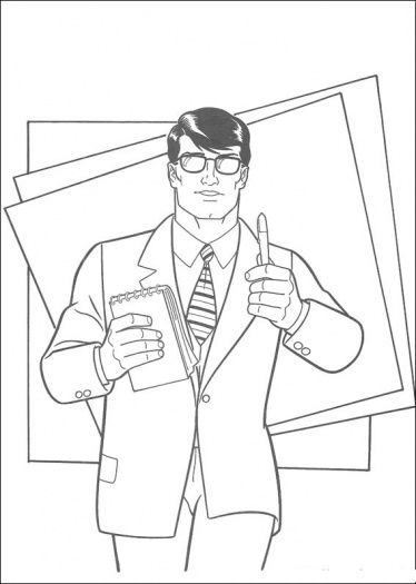 Clark Is A Journalist Coloring Page Super Coloring Superman Coloring Pages Cartoon Coloring Pages Coloring Pages