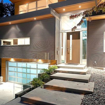 Dallas Floating Concrete Steps Design Ideas Pictures Remodel And