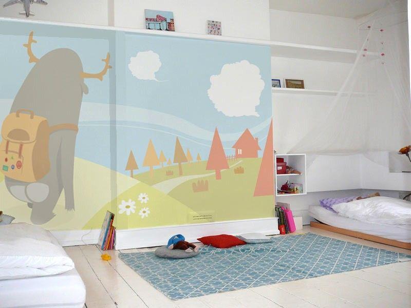 Babykamer Ideeen Behang : Vlies fotobehang sprookjesland behang kinderkamer en babykamer
