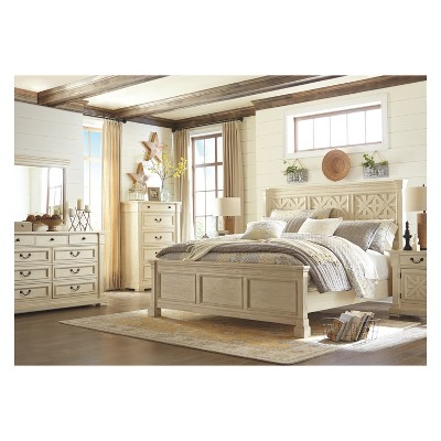 Best Bolanburg One Drawer Nightstand Antique White Signature 400 x 300