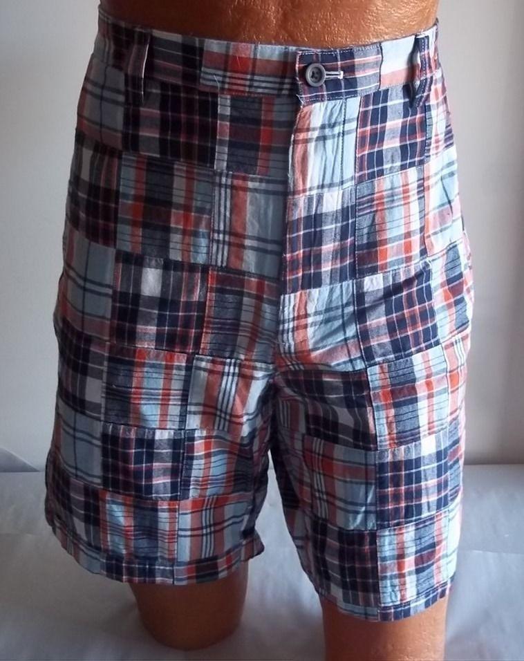 7c68645fd2638 Mens Chaps Waist 36 Plaid Red White Blue Shorts Flat Front 100% Cotton NWT  #Chaps #DressShorts