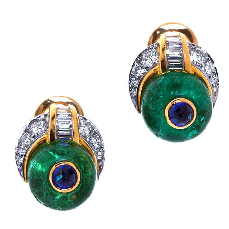 BULGARI Columbian Emerald Earrings