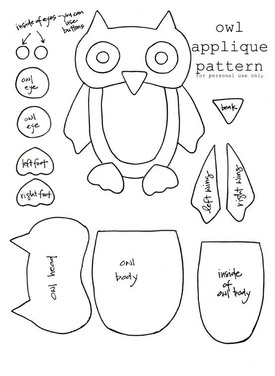 Owl Applique by bessie | Crafternoon... | Pinterest | Patrones ...