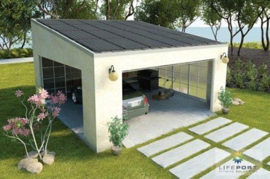 Carport/Garage idea. Like the concrete pulling up to it. Garage: One ...