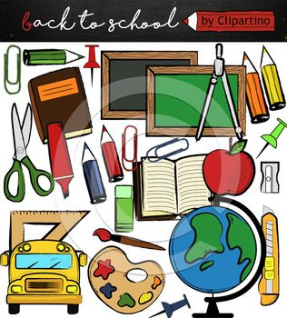 Back To School Supplies Clipart Commercial Use Ok Free School Supplies Free Clip Art Back To School