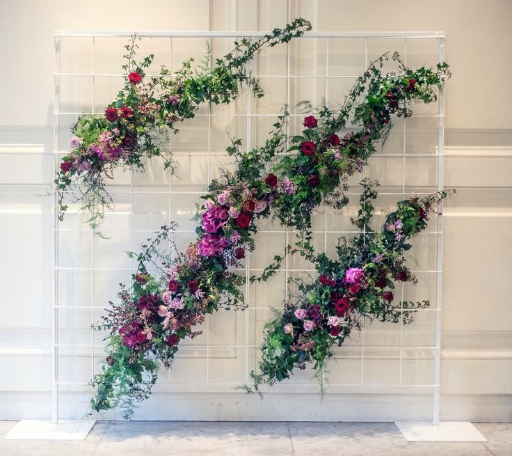 Wedding Altar Hire Uk: Flower Wall. Wild Climbing Florals & Foliage Over A White