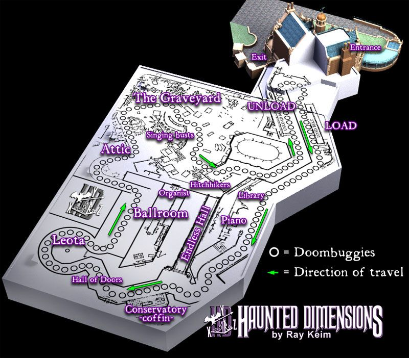 Floor Plan Of The Haunted Mansion Ride At Wdw My All Time Favorite Attraction Disney Rides Disney Posters Vintage Disney
