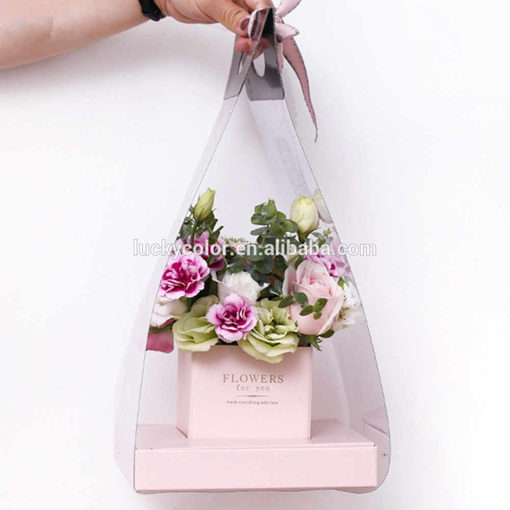 Source Flower Boxes Packaging Hand Carrying Flower Basket Florist Box Florist Supply Gift Basket For Vale Flower Box Gift Flower Packaging Flowers Bouquet Gift