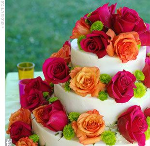fuchsia orange yellow green wedding flowers google search