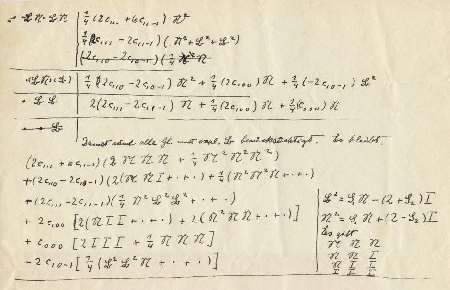 Albert Einstein 1879 1955 Autograph Mathematical Manuscript Ca 1940s Collection Of Pedro Correa Do Lago Pedro Correa New Museum Handwriting