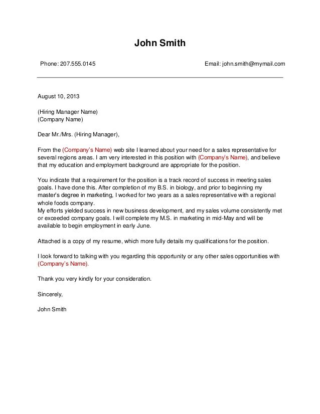Cover Letter For Company. Best 25+ Free Cover Letter Examples