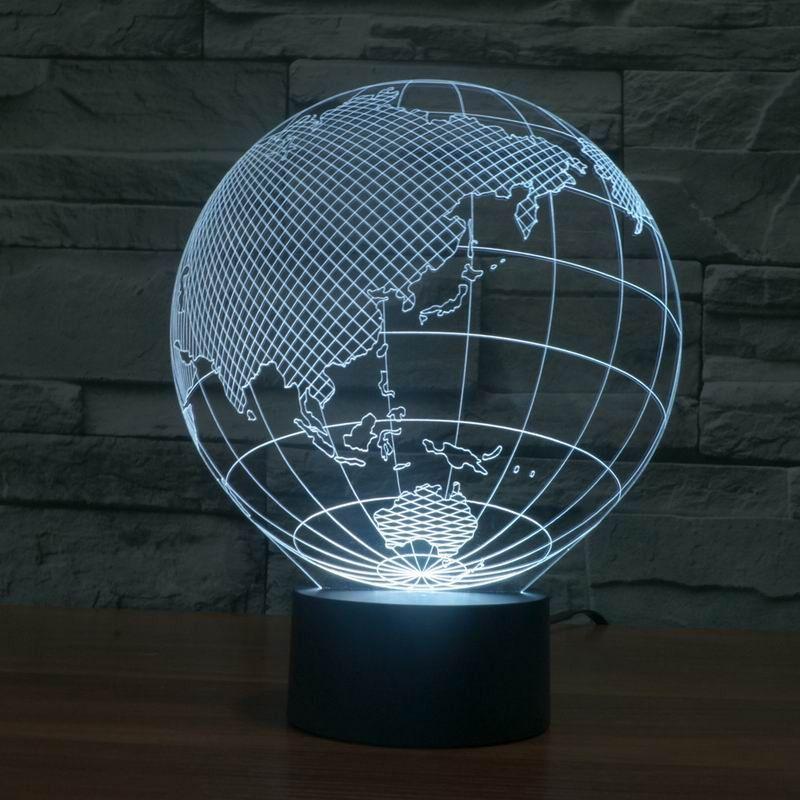 Globe 3d Illusion Lamp Lamp 3d Illusion Lamp 3d Led Light